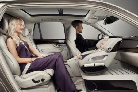 Volvo concept replaces front passenger spot with a baby seat